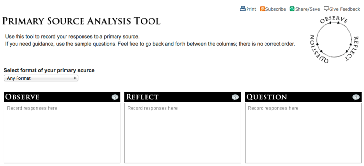 Analysis worksheets, evidence, and primary documents | Doing Social ...