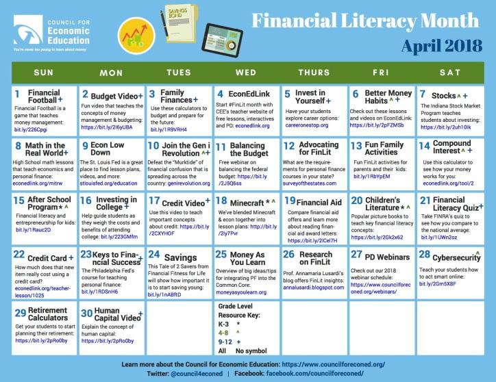 FinLit-Calendar J   Doing Social Studies